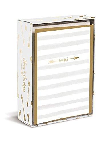 Boxed Notes: Merci Arrow – Gruß- und Geschenkkartenbox mit Kuverts: Dankespfeil: 10 Gruß- und Geschenkkarten mit passenden Umschlägen