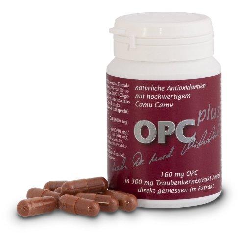 OPC Plus nach Dr. med. Michalzik, 300 mg Extrakt aus Vitis vinifera, 160 mg OPC, 50 mg reines CamuCamu Extrakt (Vitamin C) je Kapsel - ohne Zusatzstoffe, 72 vegane Kapseln
