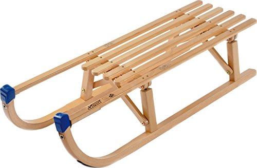 Colint Faltschlitten Davos 100 cm, Klappschlitten faltbar Schlitten Rodel Holzschlitten Holz DKS 63100