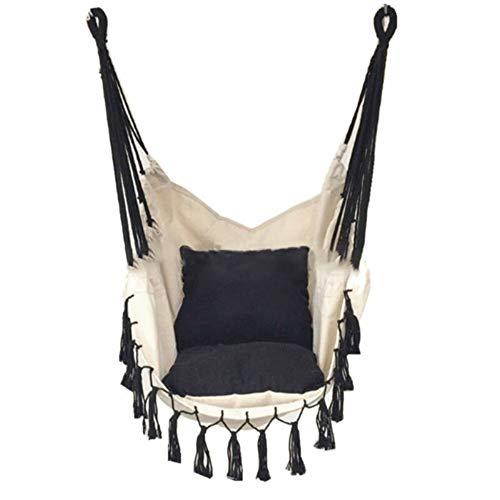 Vhgyu, sedia semi-circolare da appendere con asta per esterni, dormitorio interno, camera da letto, cortile, viaggi, campeggio, dondolante, singola poltrona con cuscino
