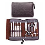 VIAIA Set de manicura Kit de manicura Profesional Kit de Clavos Set 11 en 1 Kit de Herramientas de pedicura de Acero Inoxidable Kit de Aseo (Color : Purple)