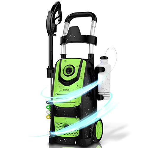 Suyncll High Power Washer Electric Pressure Washer,3800PSI 2.8GPM Pressure Washer Car Patio Garden Yard Cleaner(Green)