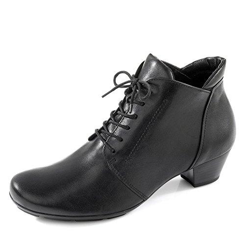 Gabor 75.631-27 Damen Stiefelette zurückhaltender Schnührschuh mit Blockabsatz, Groesse 40, schwarz