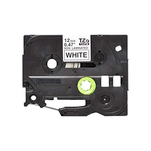 Brother Original P-touch Schriftband TZE-N231 12 mm, schwarz auf weiß (u.a. für Brother P-touch PT-H100LB/R, -H105, -E100/VP, -D200/BW/VP, -D210/VP) nicht laminiert