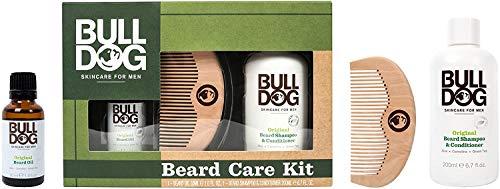 Bulldog - Kit cuidado Barba - Champú + Aceite + Peine