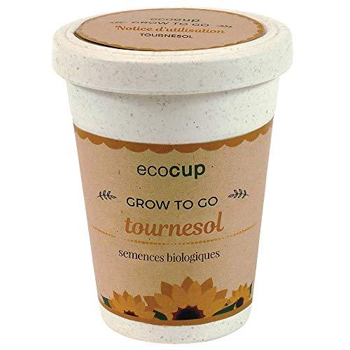Feel Green Ecocup, Tournesol Certifiées Bio, Idée Cadeau (100% Ecologique), Grow-Your-Own/Kit Prêt-à-Pousser, Plantes Dans Coffee Cup 10 x 8 cm, Produit En Autriche