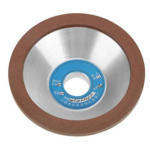 Muela abrasiva de tazón 100mm OD Disco abrasivo de diamante Accesorio de amoladora de lijado de taza para procesamiento de torno de precisión