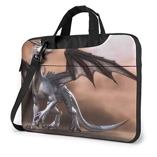 Bolso de Hombro Impreso dragón Largo del Ordenador portátil, maletín del Bolso de Mensajero del Negocio del Bolso de la Caja del Ordenador portátil