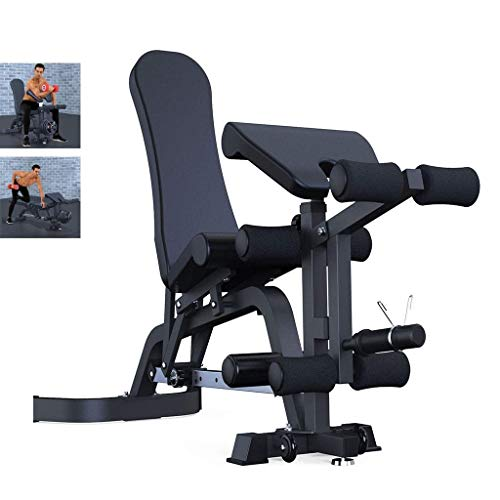 DAGCOT Peso Profesional Banco Comercial Gimnasio Silla Sit-up Banco Junta de Ejercicio físico Equipo Multifuncional máquina de Fitness (Color : Black, Size : 74x157x115cm)