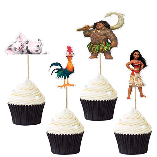 Moana Cupcake Toppers (Pack of 48)