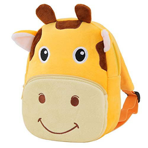 Toddler Backpack,RAVUO Cute Small Plush Kids Daycare Backpack for Boys 2-3 Years