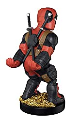 """Compatible with most PlayStation, X-Box, Switch & retro console controllers Holds all mobile phone devices Includes 2m (6ft) micro USB charging cable Styled on """"Deadpool"""" from the Deadpool Comic franchise Official licensed merchandise"""