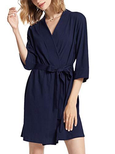 Sioro - Accappatoio da donna, in cotone, kimono, taglia S-XXXL Marina Militare XXL