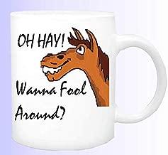 Oh Hay-Wanna Fool Around Horse Coffee Mug,Horse Coffee Cup, Horse Lover Mug, Equine Coffee Cup, Funny Horse Mug, Horse Lover Mug Unique Gift Novelty Ceramic Coffee Mug Tea Cup - 15oz White