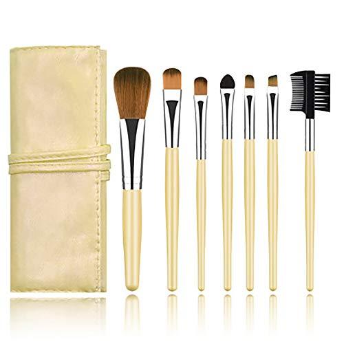 Maquillage Pinceaux, Outils De Beauté Pinceau De Maquillage Portable Pinceau De Maquillage Professionnel 7Pcs Cosmétiques Pour La Fondation Kabuki Fard À Paupières Correcteur,Argent