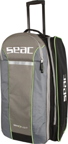 SEAC 0920001 Bolsa Mate Finternahd Trolley de Diseño Italiano, Unisex Adulto, Negro Verde, L