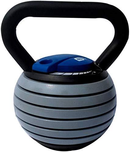 DPPAN Kugelhantel Aus Gusseisen, Verstellbare Mit Vinylbeschichtung Fitness-kugelhantel rutschfest Kettlebell Workout in Verschiedenen Gewichtsstufen,Blue_20lb