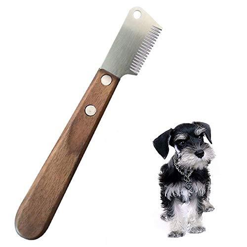 GingerUP Hundemesser zum Abisolieren, professionelles Werkzeug für Hunde, ergonomischer Holzgriff