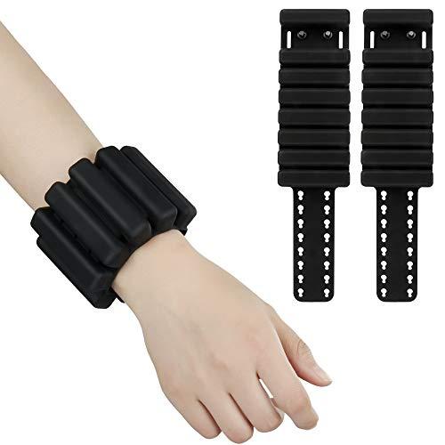 The7boX Juego de pulseras ajustables de silicona para muñeca y brazo, peso de la pierna para ejercicios de interior y exterior, 1 lb cada uno/2 unidades