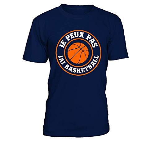 T-Shirt Homme Je Peux Pas J'Ai Basketball - Bleu Marine - XL