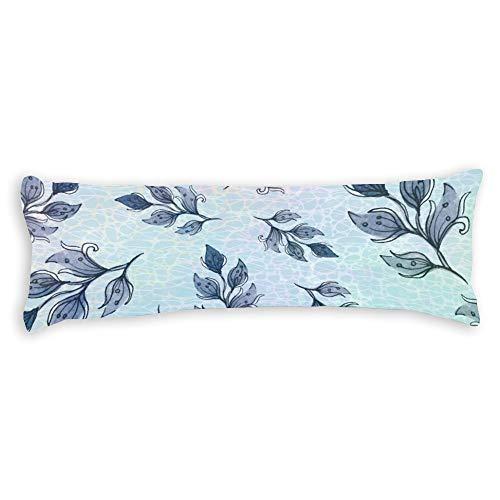 Fundas de almohada para cabello y piel de 40,6 x 60,9 cm, diseño de flores verdes de acuarela para sofá, dormitorio, coche