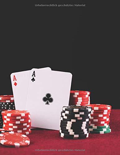 Notizbuch: zum Pokern ♦ über 100 Seiten Dot Grid Punkteraster für Strategien, Planer oder Notizen für alle Pokerspieler ♦ Jounal A4+ Format ♦ Motiv: Pokertisch 8