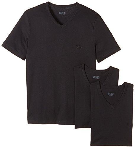 BOSS Shirt SS VN 3er-Pack BM V-Ausschnitt Camiseta, Negro (Black 1), X-Large (Talla Fabricante: XL) 3 para Hombre