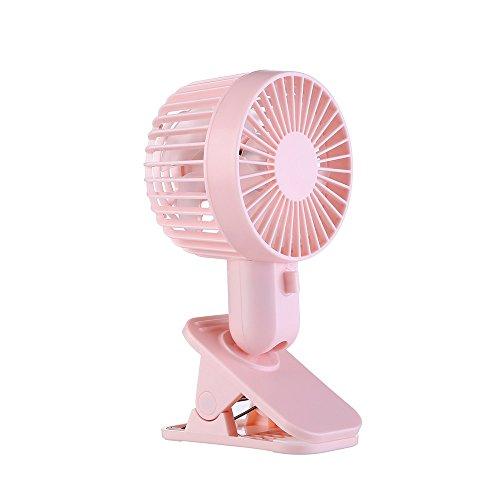 SHE.White Clip Mini-Ventilator 20cm Durchmesser Hochwertiger Tischventilator Stark & Leise für Büro, Zuhause, Schreibtisch 2 Geschwindigkeitsstufen 120 Grad Einstellbar Ventilator