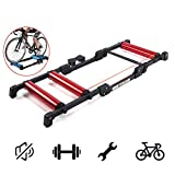 AUTOKS Bike Rollers Faltbares Bike Bicycle Training Bracket Trainer MTB Rennrad Roller...
