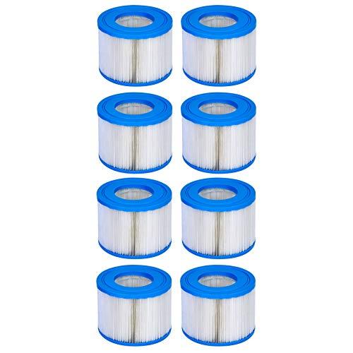 WAVE Cartuchos de filtro para bañera de hidromasaje, filtros de spa de repuesto para tinas Hots comprados en 2020 o más tarde (paquete de 8)