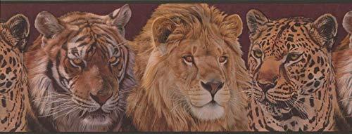 Adventures Tiger Lion ADV2043B Wallpaper Border