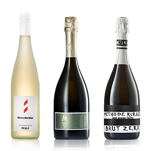 GEILE WEINE Weinpaket Sekt & Perlweine | 3 x 0,75l Kleines Probierpaket mit Prickelndem von Winzern aus Deutschland