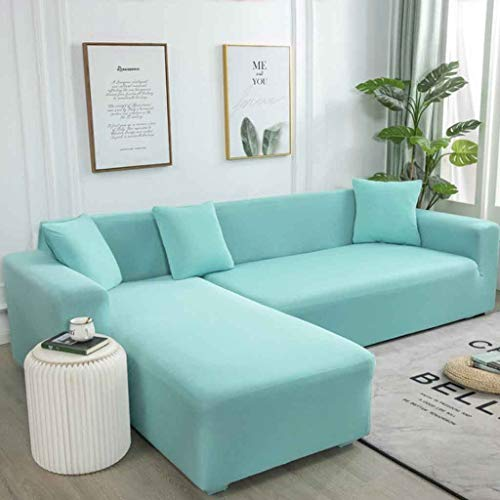ZHICHENG Sofa Throws Sofa Cover Elastic Stretch Waterproof Sofa Cover for L-Shape Set of 2 (Color : 2, Size : AA/BB=(235-300CM)/(190-230CM))