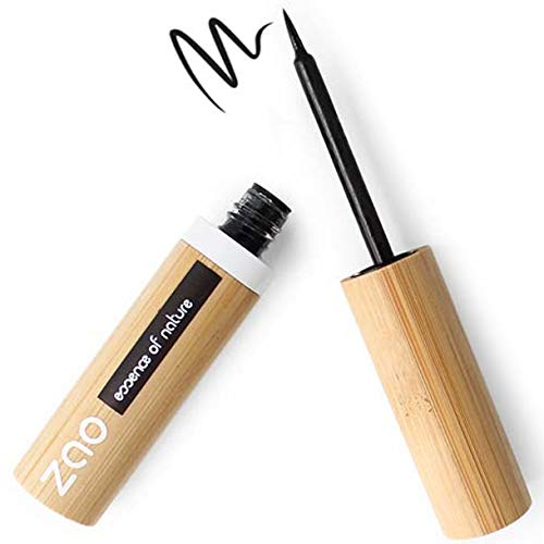 ZAO Eyeliner PINCEAU 070 Noir Intense RECHARGEABLE bio vegan 100% naturel
