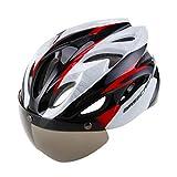 JM- Fahrradhelm Bunte Männer Und Frauen Rennrad Mountainbike Magnetische Schutzbrille Helm Reithelm