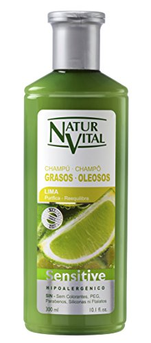 NaturVital Champú Sensitive Cabellos Grasos - 300 ml