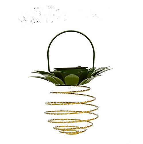 ZMMA Linterna de Hierro con luz Solar de piñaLEDCopper Wire SstringLights Exterior Impermeable Decoración de jardín HangingLlights (pequeño)