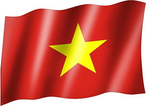 Flagge/Fahne VIETNAM Staatsflagge/Landesflagge/Hissflagge mit Ösen 150x90 cm, sehr gute Qualität