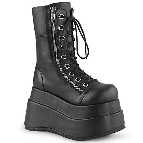 Demonia BEAR-265 Women's Mid-Calf & Knee High Boots, Black Vegan Leather, 6