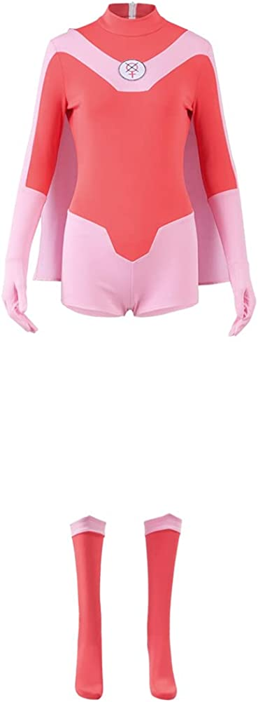Atom Eve Jumpsuit Cosplay Costume Outfit Bodysuit El Paso Mall Very popular Cloak Cape Ful
