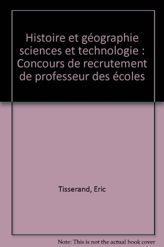 histoire et géographie sciences et technologie CRPE