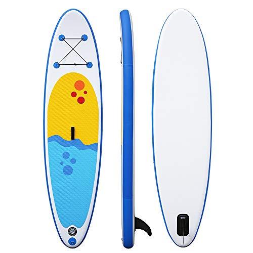 NgMik Tabla De Surf Inflable Inflables Stand Up Paddle Board 15 Cm De Grueso Kit De Conversión De Sup con Los Accesorios Libres Estable (Color : Blue, Size : 305x76x15cm)