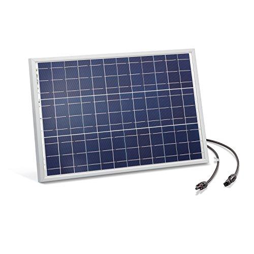 Solarmodul 20 Watt kristallin 18V mit MC4 Steckverbindungen Photovoltaik Camping, Abmessungen 507 x 340 x 35 mm Solarpanel esotec 120022