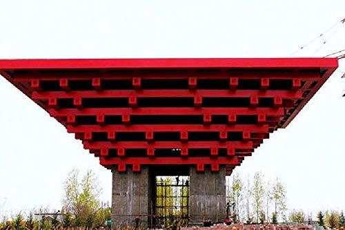 Das architektonische Muster des China-Pavillons für die Expo - 1000 Holzpuzzleteile von hoher Qualität und Größe - ist EIN gutes Geschenk für Freunde
