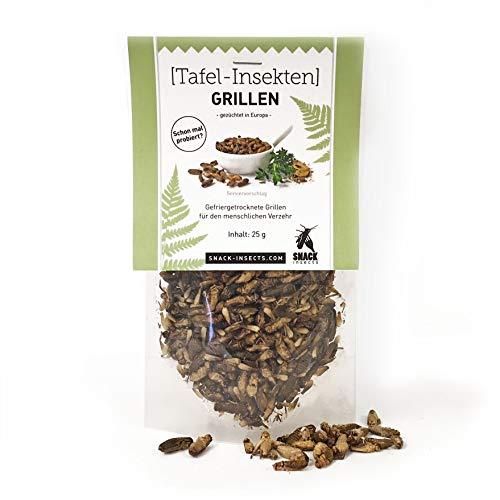 SNACK insects GRILLEN essbare Insekten zum Essen, 25 g