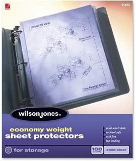 WLJ21423 - Wilson Jones Economy Weight Sheet Protector