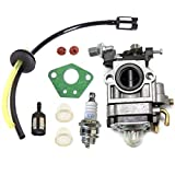 HURI Carburetor Spark Plug Fuel Line Filter Kit For Hyundai HYMT5200 <span class='highlight'><span class='highlight'>P1PE</span></span> P5200MT 52cc Garden Multi Function Tool Carburettor