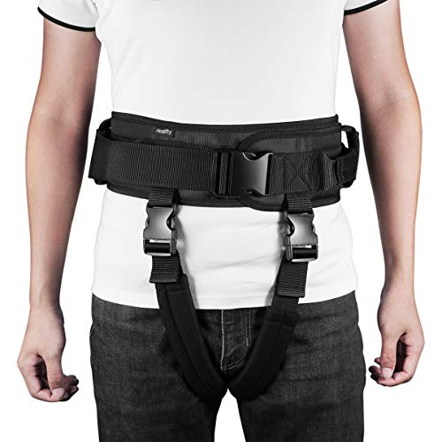 Healifty Cinta de transferencia con asas – Seguridad médica para personas mayores – Cinturón de rehabilitación robusto y práctico para caminar de pie – Dispositivo de entrenamiento para pacien