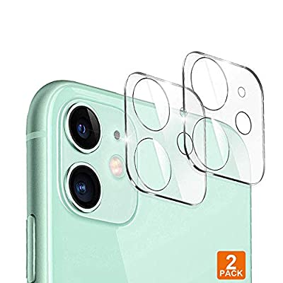 Designed for iPhone 11 Camera Lens Protector, JanCalm NO Glare HD Clear Ultra-Thin Anti-Scratch Tempered Glass for iPhone 11 Lens Protector (2 Pack) (Clear)
