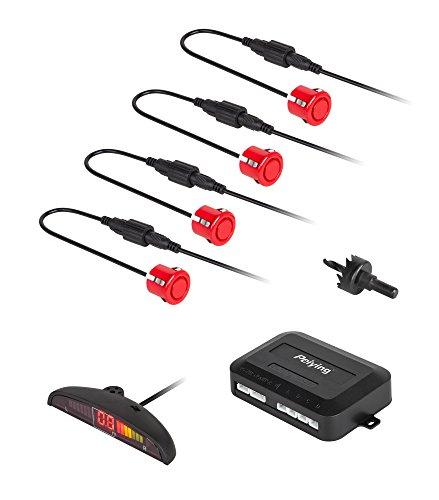 Peiying py0104r Aide au stationnement pour Les écran LED, 4 capteurs de véhicule, de Couleur arrière, Rouge